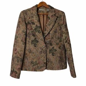 Kate Hill Fully Lined Floral Blazer